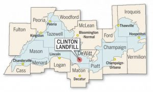 Lee News Service Map of Mahomet Aquifer and Clinton Landfill