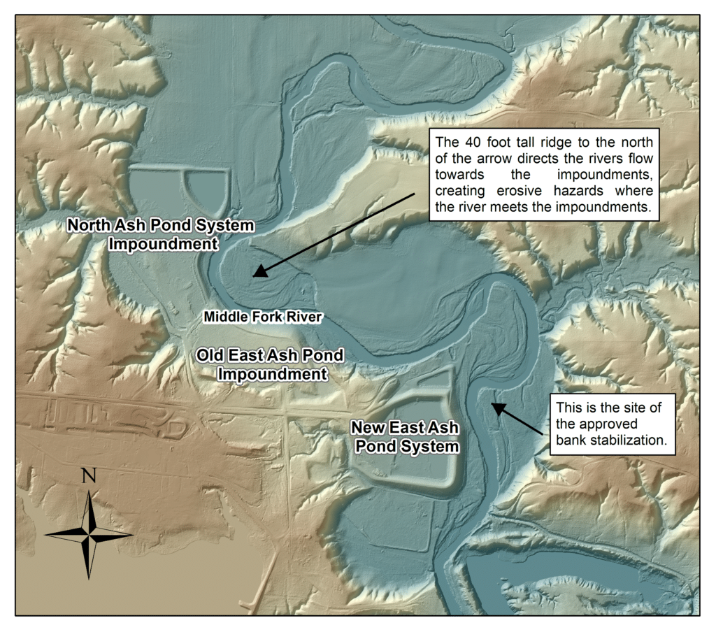 Map of Elevations at Dynegy Vermilion site.