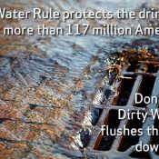 Water down the drain